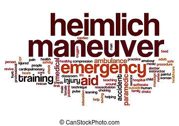 Heimlich maneuver word cloud concept