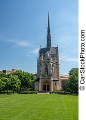 Heinz Chapel building at the University of Pittsburgh - ...