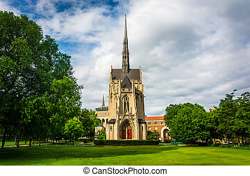 Heinz Memorial Chapel, at University of Pittsburgh, in ...