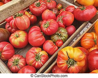Heirloom Tomatoes At Market