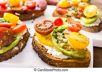 Heirloom Tomatoes - Tomato sandwich made with organic ...