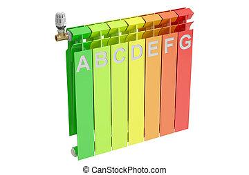 Heizkörper mit energie diagramm Stock Illustrationen Bilder. 9 ...