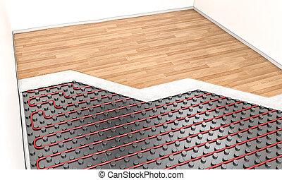 Thermalbild stock illustrationen 584 thermalbild clipart for Boden heizung