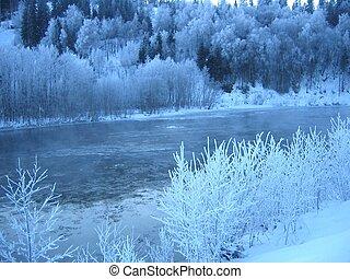 helada, río