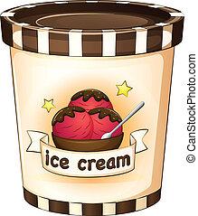 helado, dentro, taza desechable