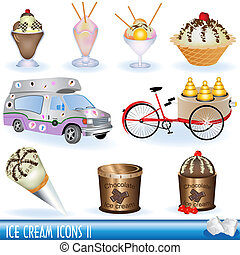 helado, iconos, 2