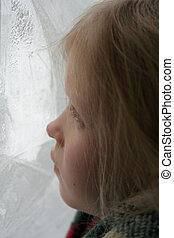 helado, ventana