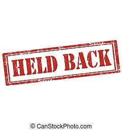 Held Back-stamp