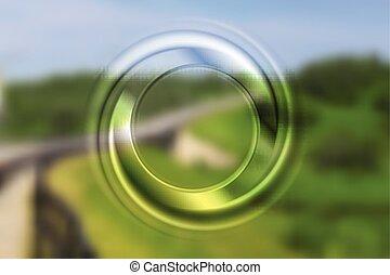 helder, abstract, cirkel, achtergrond