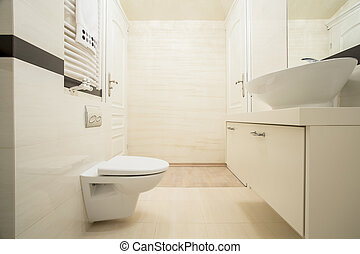 helder, badkamer, in, een, moderne, flat