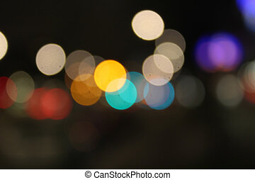 helder, kleurrijke, bokeh, abstract