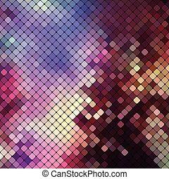 helder, kleurrijke, mozaïek, achtergrond