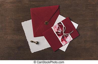 helgdag, brev, inbjudan