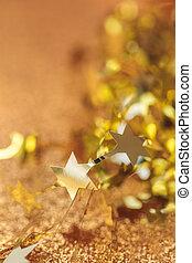 helgdag, glitter, bakgrund, med, stjärnor