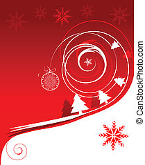 helgdag, vinter, kort, jul