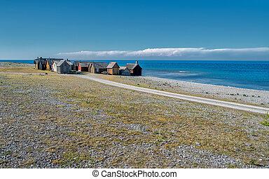 Faro island in the Baltic sea