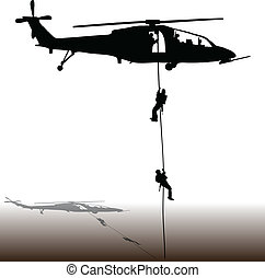 helicóptero, aterragem