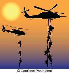helicóptero, aterrizaje