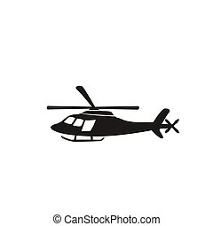 helicóptero, branca, experiência preta, ícone