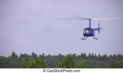 helicóptero, céu