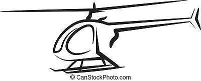 helicóptero, ilustração