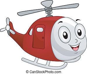 helicóptero, mascota
