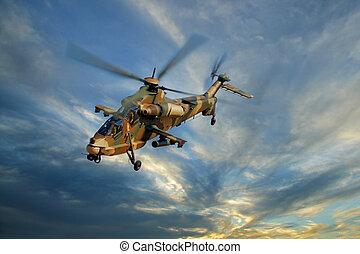 helicóptero, militar