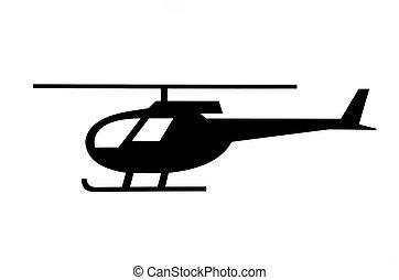 helicóptero, pictograma