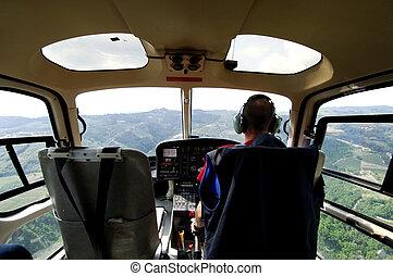 helicóptero, piloto