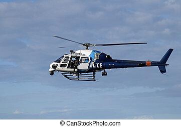 helicóptero, polícia