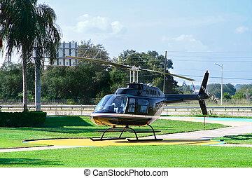 helicóptero, vôo, sightseeing