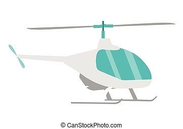 helicóptero, vetorial, caricatura, illustration.