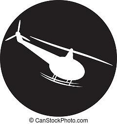 helicóptero, vetorial, -, ilustração