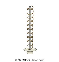 Helical antenna - This is an illustration of helical antenna