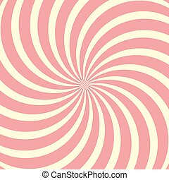 Helical circular background, Lollipop twisted rays vector...