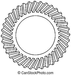 Helical gear icon - Illustration of the helical gear icon
