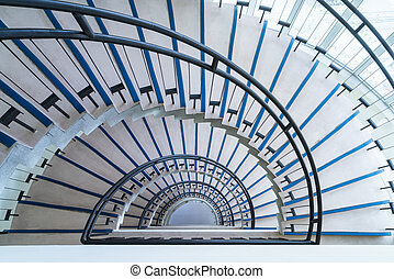 modern semicircle staircase - helical stairway, simple...
