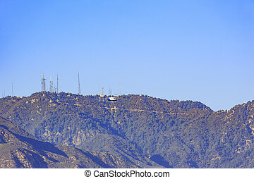 Helicopter and Mt Wilson