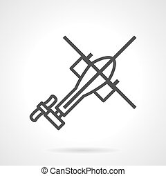 Helicopter black outline vector icon