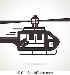 Helicopter black vector icon