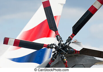 helicopter blades - helicopter rotor blades with large jet...