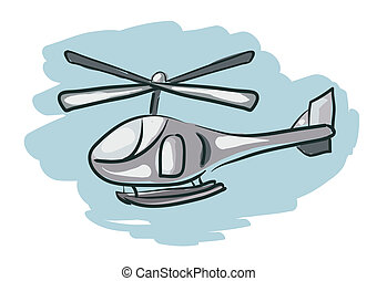 Helicopter Cartoon Sketch