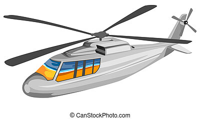 Helicopter Chopper Retro - Illustration of a helicopter...