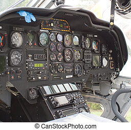 Helicopter cockpit - Intervior view of a helicopter cockpit...