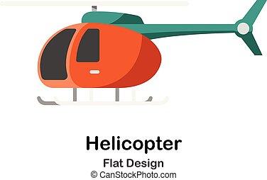 Helicopter Flat Illustration