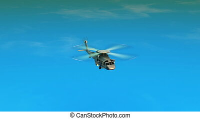 helicopter and horizon