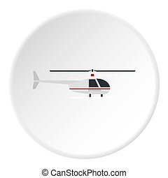 Helicopter icon circle