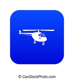 Helicopter icon digital blue