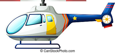 Helicopter - Illustration of a helicopter on a white...