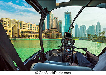 Helicopter in Dubai